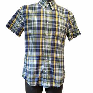 Tommy Hilfiger men's plaid button down shirt M